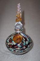 Art Glass Multicolored Perfume Bottle by Twin Studio