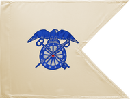Quartermaster Corps Guidon Framed 24x31 (Regulation)