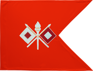 Signal Corps Guidon Framed 08x10