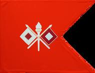 Signal Corps Guidon Framed 24x31 (Regulation)