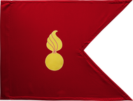 Ordnance Corps Guidon (Crimson) Framed 08x10