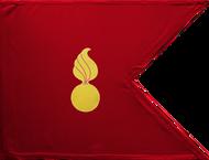 Ordnance Corps Guidon (Crimson) Framed 24x31 (Regulation)