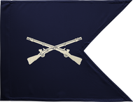 Infantry Corps Guidon Framed 24x31 (Regulation)