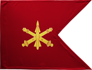Air Defense Artillery Guidon Framed 24x31 (Regulation)