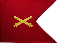 Field Artillery Corps Guidon Framed 24x31 (Regulation)
