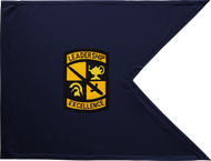 ROTC Guidon Blue Background Framed 08x10