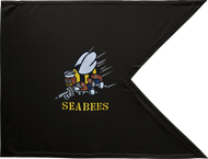 US Navy Seabees Guidon Framed 16x20