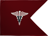 Veterinary Corps Guidon Unframed 20x27 (Regulation)