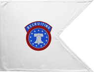 Army Recruiting Guidon Framed 24x31 (Regulation)