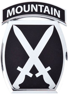 10th Mountain Division Car Emblem