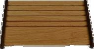 J. Becker Slanted 2 Tone Honey Oak Coin Holder