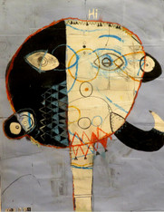 """A Most Peculiar Man - Mixed Media on Paper, 18 x 14"""""""