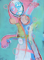 The Fragile Dance - Acrylic and Pastel on Canvas - Gallery Wrapped, 24 x 18""
