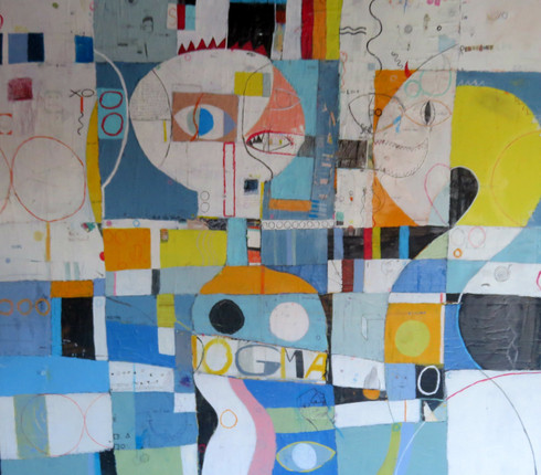 """Dogma - Mixed Media on Canvas - Gallery Wrapped.  59 1/2 x 59 1/2"""""""