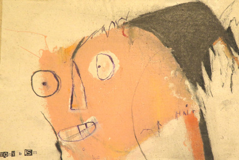 "Crazy Hair - Mixed Media on Canvas, 15 x 10"""