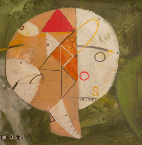 """Blink - Mixed Media on Canvas Panel, 14 x14"""""""