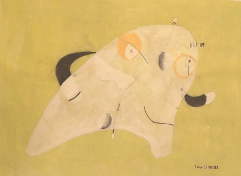 "Run - Acrylic & Graphite Pencil on Canvas Panel, 16 1/2 x 22 1/8"""