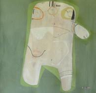 "Food - Acrylic & Graphite Pencil on Canvas Panel, 22 5/8 x 22"""