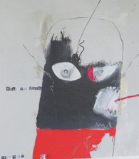 """Beat The Devil - Mixed Media on Unstretched Canvas, 13 1/4 x 15"""""""