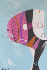 """Blank - Mixed Media on Unstretched Canvas, 10 1/4 x 15"""""""