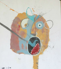 "Scream - Mixed Media on Paper , 14 1/8 x 16 3/8"""