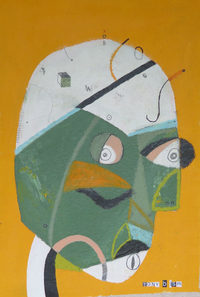 """Whistle Box - Mixed Media on Unstretched Canvas, 12 1/4 x 18"""""""