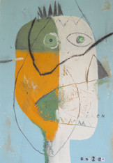 "Winner, Winner…Chicken Dinner - Mixed Media on Unstretched Canvas, 11 3/4 x 17"""