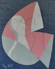 """Acrylic & Pencil on Canvas.  Unframed.  20 x 16"""""""