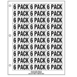 "1"" 6 Pack"
