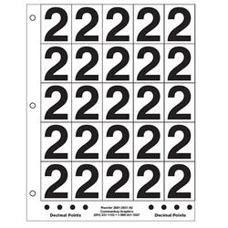 "2"" Number 2"