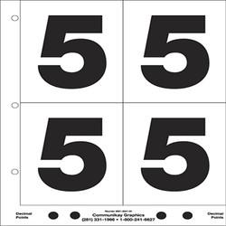 "5"" Number 5"