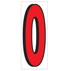 "18"" Red and Black Number 0"
