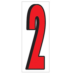 """18"""" Red and Black Number 2"""