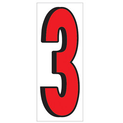 """18"""" Red and Black Number 3"""