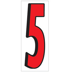 """18"""" Red and Black Number 5"""