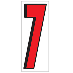 """18"""" Red and Black Number 7"""