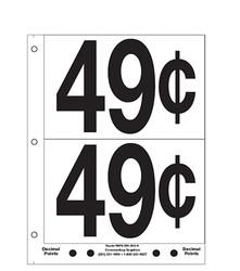 """5"""" Pre-priced 49¢"""