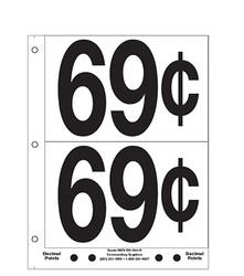 """5"""" Pre-priced 69¢"""