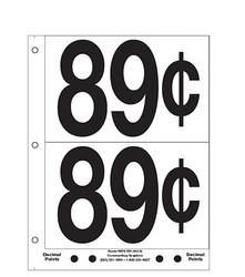 """5"""" Pre-priced 89¢"""