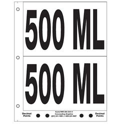 "5"" 500 ML"