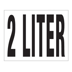 Small Banner Label - 2 Liter