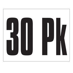 Small Banner Label - 30 Pk