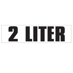Medium Banner Label - 2 Liter
