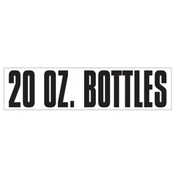 Medium Banner Label - 20 oz Bottles