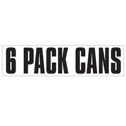 Medium Banner Label - 6 Pack Cans
