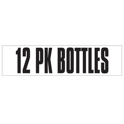 Medium Banner Label - 12 Pk Bottles