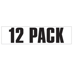 Medium Banner Label - 12 Pack
