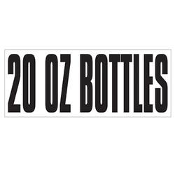 Large Banner Label - 20 oz Bottles