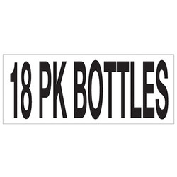 Large Banner Label - 18 Pack Bottles