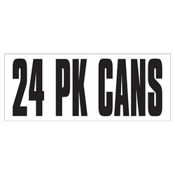 Large Banner Label - 24 Pack Cans